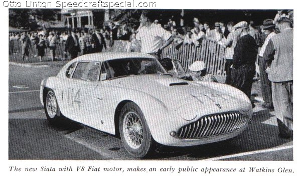 Otto Linton with the Siata 208CS at Watkins Glen 1952