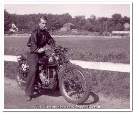 George C. Caswell at Athol Fairgrounds, Mass 1937 OK-Supreme