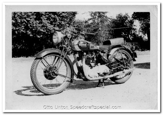 Otto Linton's 1939 Rudge Ulster with RR50 Head