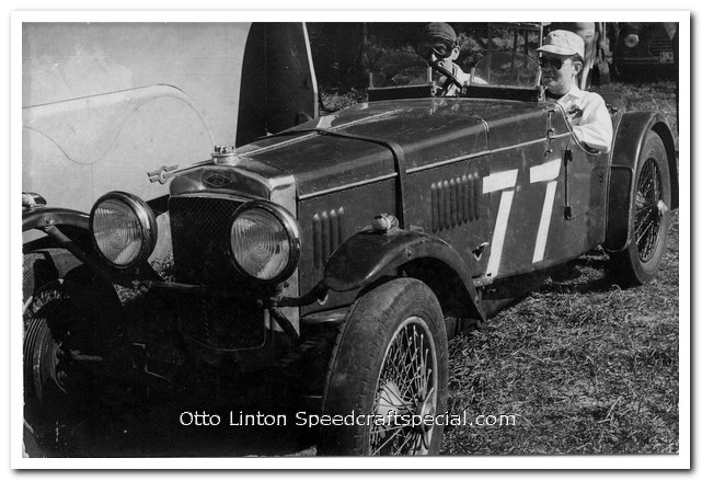 Otto Linton and Denver Cornett in the 1934 Frazer-Nash TT