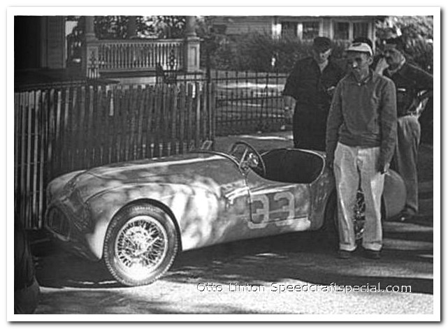 Otto Linton with the Siata Prototype at Watkins Glen 1951