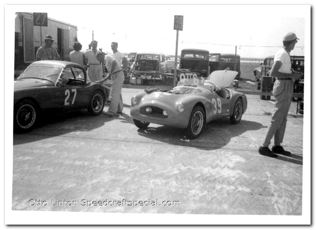 Otto Linton with the Siata Prototype at Sebring 1952