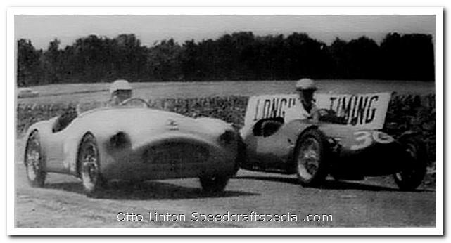 Otto Linton racing at Brynfan Tyddyn 1952